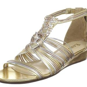 Enzo Angiolini Women's Nessta, Gold, 10M-NEW